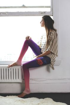 Purusha People - recycled plastic leggings made with low impact, non-toxic dyes