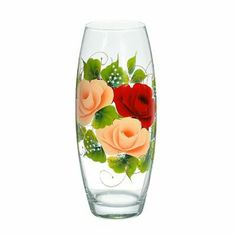 Painted Glass Vases, Wine Glass, Tableware, Floral Arrangements, Flower Arrangements, Decorated Boxes, Dinnerware, Tablewares, Dishes