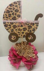 Cheetah stroller centerpiece