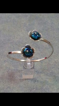 Sterling silver and dichoric glass  $170.00