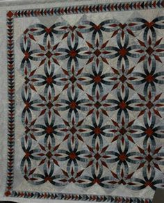 Bali Wedding Star Red and Black Wedding Ring Quilt, Star Wedding, Wedding Quilts, Amish Quilt Patterns, Quilting Projects, Quilting Ideas, Black And White Quilts, Double Wedding Rings, Foundation Paper Piecing