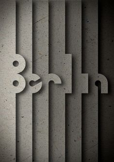 Creative Poster, Design, Berlin, and Typography image ideas & inspiration on Designspiration 3d Typography, Graphic Design Typography, Hand Lettering, Creative Typography, Typography Tutorial, Typography Drawing, Typography Alphabet, Wayfinding Signage, Signage Design