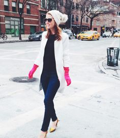 A pop of color: http://www.stylemepretty.com/living/2015/02/19/our-favorite-nyfw-street-style/