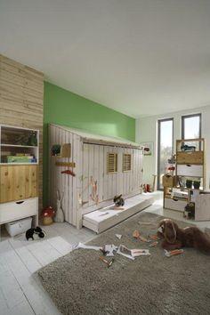 Spielbett, Abenteuerbett, Kinderbett, Kinderzimmer, Kindermöbel Hütte | eBay