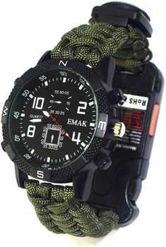 Survival Watch, Survival Tools, Diesel Watches For Men, Casio G Shock, Outdoor Survival, Mountaineering, Rock Climbing, Multifunctional, Paracord