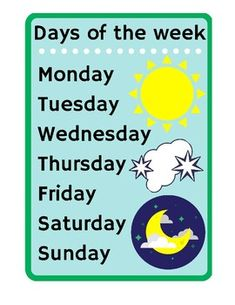 Days of the week - Sun MoonLearn the days of the week in English.Learn how to spell the days of the week in English. Blue Butterfly, Sun Moon, Teacher Newsletter, Teacher Pay Teachers, Spelling, Worksheets, Teaching Ideas, English, Education