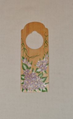 Lilac Home Decor of Purple Flowers Wooden by EnchantedRoseProduct, $6.00