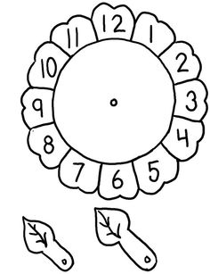 Clock craft idea for preschool kids Clock Worksheets, Preschool Worksheets, Math Activities, Preschool Activities, Matching Worksheets, Math For Kids, Crafts For Kids, Sunflower Coloring Pages, Clock Craft