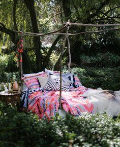 Eden Quilt Cover Set - Kilim Print || Bohome Quilt Cover Sets, Bohemian Decor, Boho, Porch Swing, Plant Decor, Outdoor Furniture, Outdoor Decor, Wonders Of The World, Indoor Plants