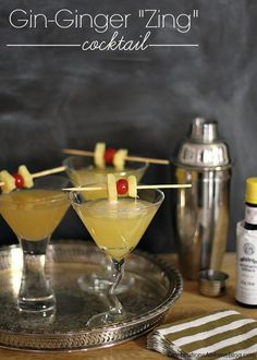 "Gin-Ginger ""Zing"" Cocktail — Celebrations at Home"