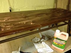 Uncle Atom: Project: Refinish Two Lane Acclaim Tables, Part 1