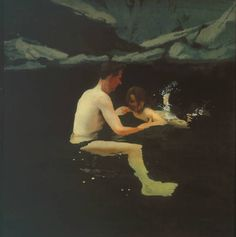 Michael Andrews 'Melanie and Me Swimming' 1978-1979