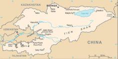 Kirghizistan - Mappa