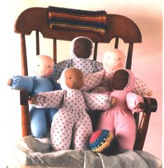 Flannel Doll Kit - $19.95 A soft brushed flannel body makes the perfect doll for the young child.  A good beginning doll kit.