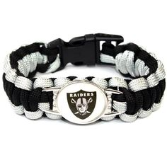 Oakland Raiders Paracord Bracelet USA Football Team Logo Charm Braided Bracelet for Women Men Outdoor Bracelets Bangles Jewelry