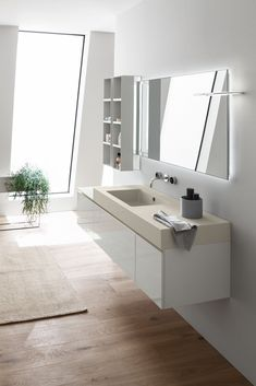 It is an element that substantially influences the final impact of the #room, both in terms of aesthetics and practicality. The first criterion to consider when you are choosing is the #size, related to the general proportions of the #bathroom and furniture. New Home Designs, Double Vanity, New Homes, House Design, Mirror, Bathroom, Wall, Aesthetics, Furniture