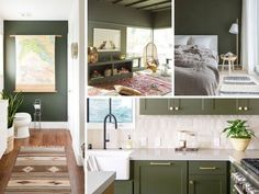 Les 6 plus belles couleurs tendance en 2020 Double Vanity, Vert Olive, Room, Inspiration, Pantone Color, Bathroom Green, Olive Green Kitchen, Bedroom, Biblical Inspiration