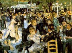 Baile en el Moulin de la Galette (1876)  Pierre-Auguste Renoir