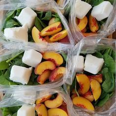 Peaches n' Cream green smoothie prep packs this week! {Peaches are in season so we decided to use them for our smoothies . 2 servings per packet Ingredients in each packet (adjust to your liking): 2 ripe peaches, sliced 2-4 frozen Greek yogurt cubes (freeze your yogurt in an ice cube tray for 3 hours beforehand, pop cubes out & add to the bags) 2 cups fresh baby spinach Add ingredients to a ziploc, or reusable container. Place in freezer. Be sure to make at least a weeks worth! . Pull...