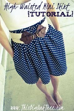 High-Waisted Mini Skirt {Tutorial}