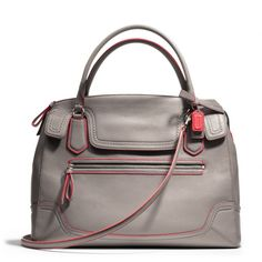 The Poppy Large Flap Satchel In Edgestained Leather from Coach - what a great looking bag!!