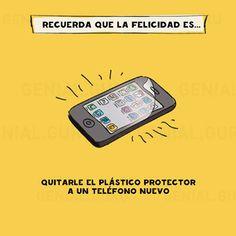 Felicidad al quitar el plástico protector. #humor #risa #graciosas #chistosas #divertidas