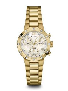 Bulova 98R216 Women's Chronograph Diamond Watch