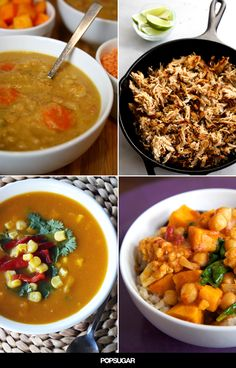 These nutritious slow-cooker recipes can be prepped ahead of time so there's a hot meal ready whenever you are. Whether you have a hard time carving out time for breakfast or spend your entire evening preparing dinner, these healthy recipes are worth trying.