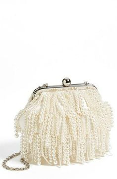 Cute pearl clutch for a beach wedding!