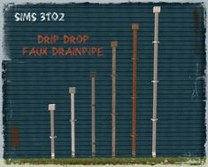 Moar Stuff For & About The Sims: Drip Drop Drainpipes - Repositoried
