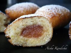 Empanadillas fritas rellenas de dulce de membrillo. Toda una delicia. - Receta Postre : Empanadillas de membrillo por Aisha Kandisha