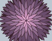 Stampe d'arte parete camera da letto Dalia design fiore floreale viola design…