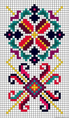8 colors-Loom Beading pattern - this would work well as a cross stitch pattern Cross Stitch Borders, Cross Stitch Designs, Cross Stitching, Cross Stitch Embroidery, Embroidery Patterns, Cross Stitch Patterns, Cross Stitch Flowers Pattern, Modele Pixel Art, Alpha Patterns