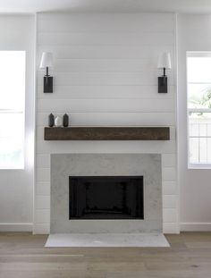 80 incridible rustic farmhouse fireplace ideas makeover (36)