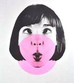 Illustration. Mr Gresty. Chewing gum. #blop #bulle http://mrgresty.bigcartel.com/