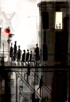 The train stop. #pascalcampionart -For them, it was just another train stop. For me, it was the gateway to a new world.