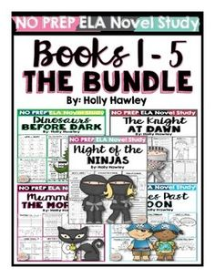 **SAVE BIG and purchase the first 5 books in the Magic Tree House series at once!This BUNDLE is perfect for small groups, centers, homework, morning work, or part of your novel study!This packet is PRINT and GO ready! No time spent laminating, cutting, or setting up.