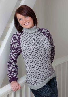 Ravelry: Genser pattern by Turid Stapnes Lervik Knitting Charts, Free Knitting, Knitting Machine, Fair Isle Knitting, Knitting Yarn, Crochet Needles, Knit Crochet, Viking Designs, Fair Isle Pattern