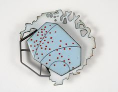 DANIELLE EMBRY three days | Flickr – Compartilhamento de fotos! brooch, 2013 vitreous enamel on copper, copper, sterling silver