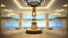 The iconic Waldorf Astoria clock. Every Waldorf Astoria has one.