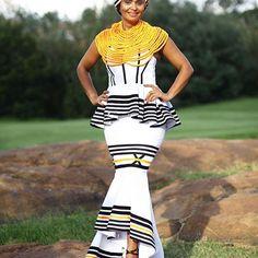 Xhosa queen 👑 Antherline   #bridewearantherline African Outfits, African Attire, African Fashion Dresses, African Dress, Fashion Outfits, Traditional Wedding Attire, Traditional Weddings, African Traditional Wedding, African Traditional Dresses