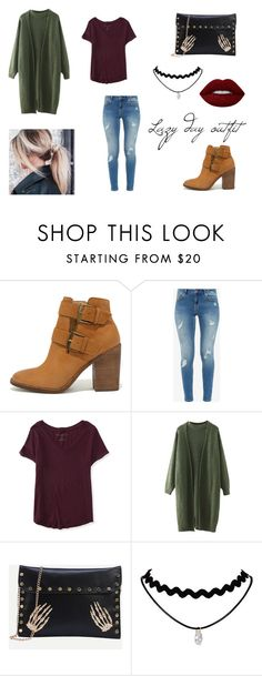 """""""Lazy Day Outfit"""" by miiriam-bc on Polyvore featuring moda, Steve Madden, Ted Baker, Aéropostale y Lime Crime"""
