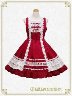 Baby the Stars Shine Bright Lace Frill JSK (2016) (Red oldschool is best oldschool fight me)