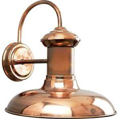 Brookside Collection 1-Light Copper Wall Lantern