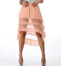 #Windsor                  #Skirt                    #Peach #Skirt             Peach Hi Low Skirt                                  http://www.seapai.com/product.aspx?PID=1733488