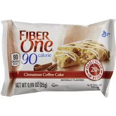 Fiber One 90 Calorie Bar, Cinnamon Coffee Cake, 5.34 Ounce ❤ liked on Polyvore featuring food