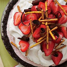 Strawberry-Pretzel Ice-Cream Pie | MyRecipes.com