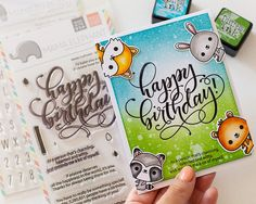 Happy Birthday Cardakossakovskaya #cardmaking #mamaelephant #distressinks