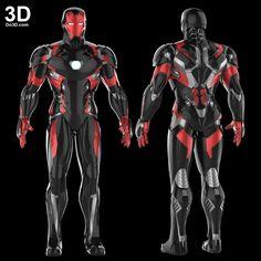 mark-XLVI-mk-46-civil-war-iron-man-3D-printable-model-file-stl-by-do3d-com Marvel Heroes, Marvel Avengers, Young Avengers, Iron Man Art, Suit Of Armor, Body Armor, Robot Design, Superhero Design, Iron Spider