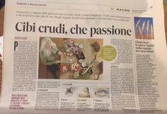 Il Messaggero 14 Ottobre 2015 #cibicrudi #rawfood #salute #benessere